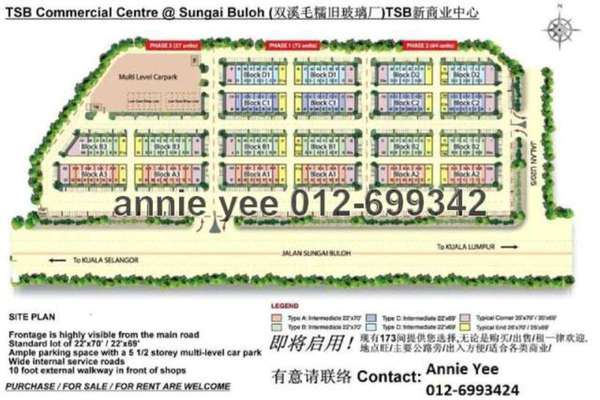 For Sale Shop at TSB Commercial Centre, Sungai Buloh Leasehold Unfurnished 0R/0B 2.9m