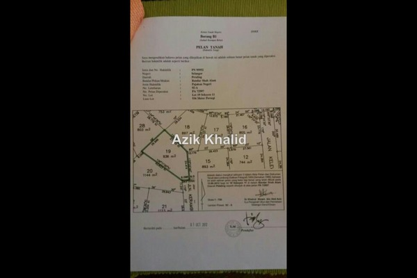 For Sale Land at Section 11, Shah Alam Leasehold Unfurnished 0R/0B 1.25m
