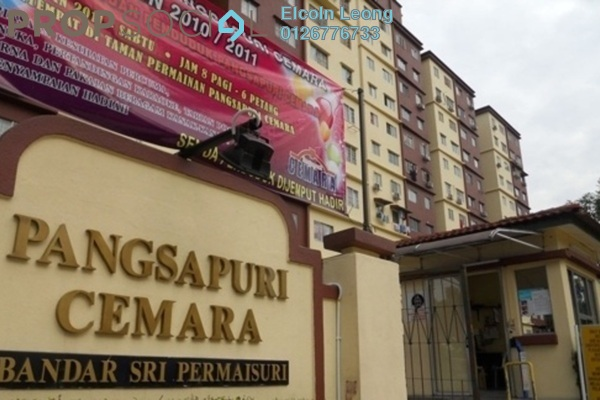 For Rent Apartment at Cemara Apartment, Bandar Sri Permaisuri Leasehold Semi Furnished 3R/2B 1.2k