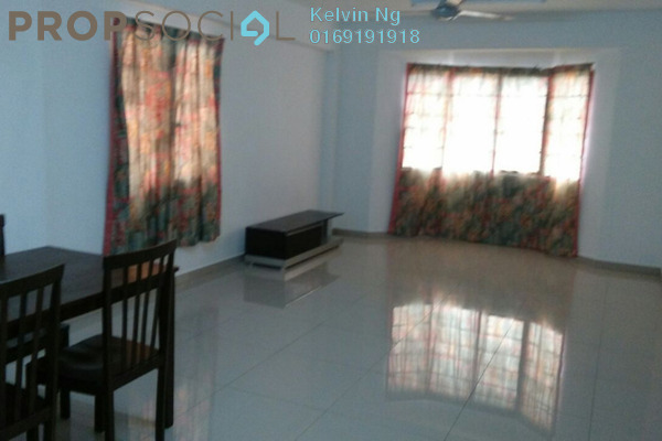 For Rent Apartment at Desa Dua, Kepong Freehold Semi Furnished 3R/2B 1.2k