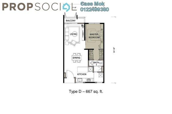 For Sale Condominium at Kemuning Utama Permai, Kemuning Utama Freehold Semi Furnished 1R/1B 450k