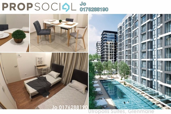 For Sale Serviced Residence at Paramount Utropolis, Glenmarie Freehold Semi Furnished 2R/2B 598k