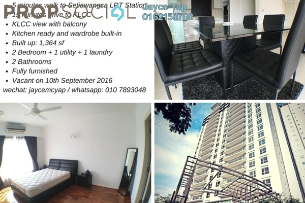 For Rent Condominium at One Jelatek, Setiawangsa Freehold Fully Furnished 2R/2B 5.1k