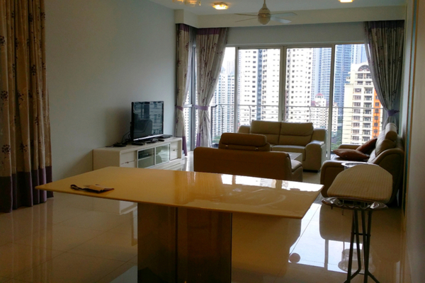 For Rent Condominium at Kiara 1888, Mont Kiara Freehold Semi Furnished 3R/3B 3k
