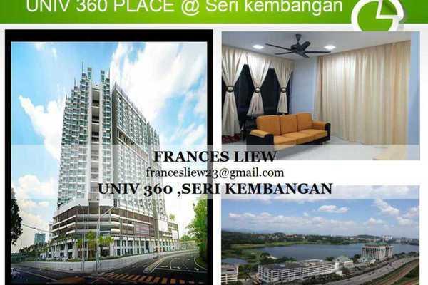 For Rent SoHo/Studio at Univ 360 Place, Seri Kembangan Leasehold Unfurnished 0R/1B 1.4k