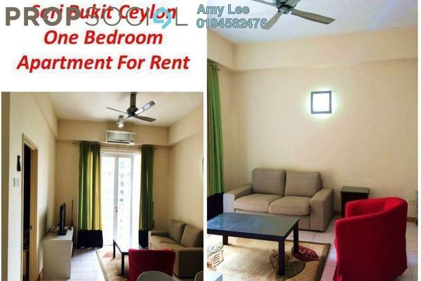 For Rent Condominium at Seri Bukit Ceylon, Bukit Ceylon Freehold Fully Furnished 1R/1B 2.8k