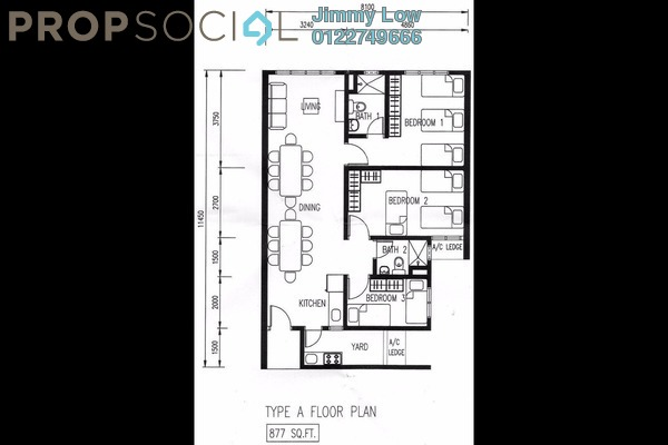 For Rent Condominium at Casa Residenza, Kota Damansara Leasehold Semi Furnished 3R/2B 1.65k