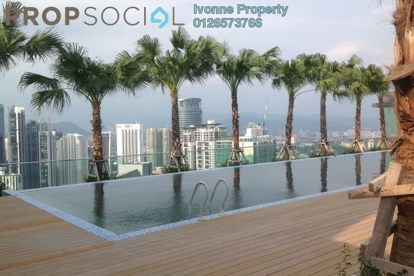 For Sale Condominium at Vipod Suites, KLCC Freehold Fully Furnished 0R/1B 1.11m