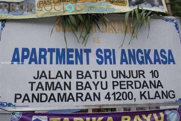 For Sale Apartment at Taman Bayu Perdana, Klang Freehold Unfurnished 3R/2B 75k