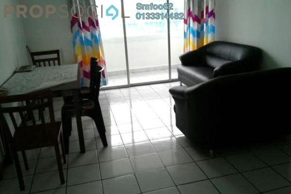 For Rent Condominium at Setapak Ria Condominium, Setapak Freehold Semi Furnished 3R/2B 1.3k