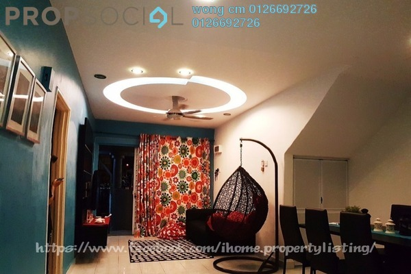 For Sale Townhouse at Taman Lagenda Mas, Cheras South Freehold Semi Furnished 3R/2B 395k