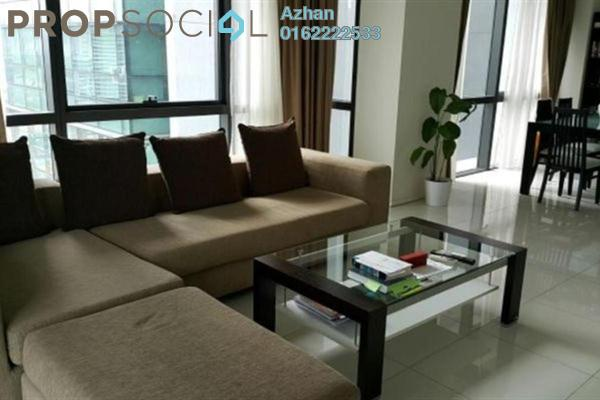 For Sale Condominium at Hampshire Place, KLCC Freehold Semi Furnished 2R/2B 1.68m