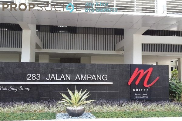 For Rent Serviced Residence at M Suites, Ampang Hilir Freehold  2R/2B 3.2k