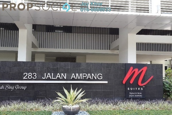 For Rent Serviced Residence at M Suites, Ampang Hilir Freehold  3R/3B 4.5k