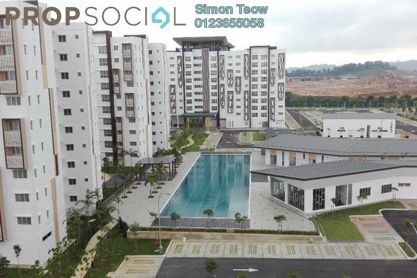 For Rent Apartment at Seri Mutiara, Setia Alam Freehold Semi Furnished 3R/2B 750translationmissing:en.pricing.unit