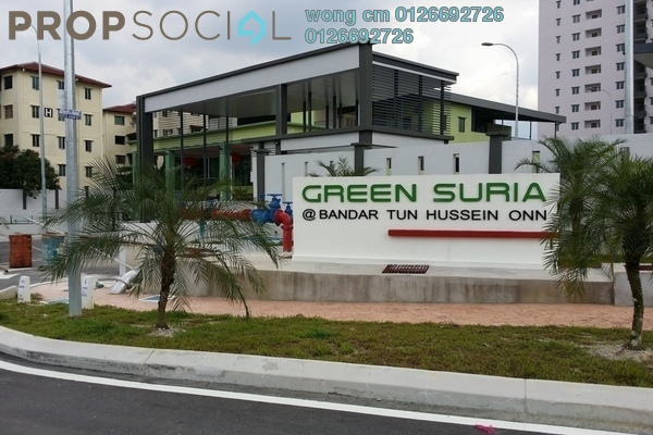 For Sale Apartment at Green Suria Apartment, Bandar Tun Hussein Onn Freehold Unfurnished 3R/2B 405k