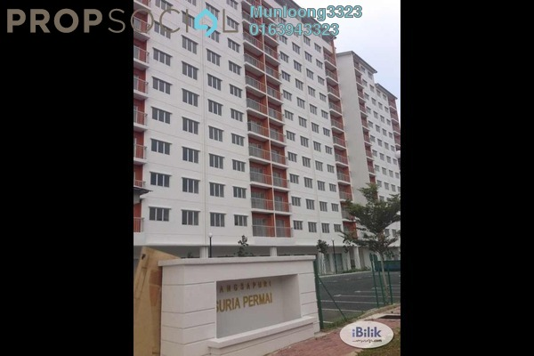 For Rent Apartment at Suria Permai, Bandar Putra Permai Leasehold Semi Furnished 3R/2B 1k