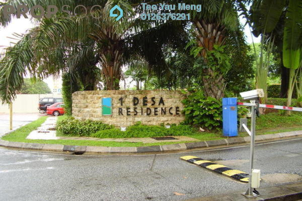 For Rent Condominium at 1 Desa Residence, Taman Desa Freehold Fully Furnished 3R/2B 5.3千