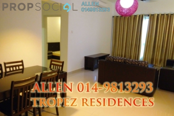 For Rent Condominium at Tropez Residences, Danga Bay Freehold Fully Furnished 2R/2B 1.95k