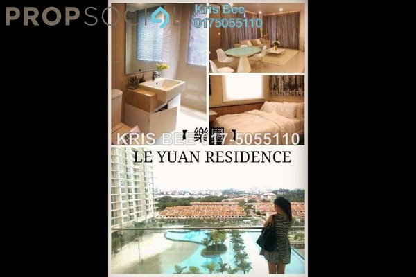 For Rent Condominium at Le Yuan Residence, Kuchai Lama Freehold Semi Furnished 3R/4B 3.4k