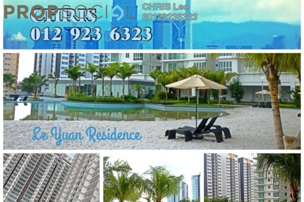 For Sale Condominium at Le Yuan Residence, Kuchai Lama Freehold  3R/2B 830k