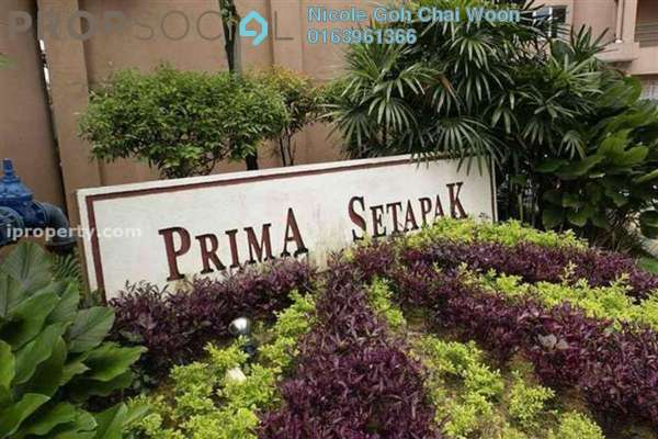 For Sale Condominium at Prima Setapak I, Setapak Leasehold Semi Furnished 3R/2B 530k
