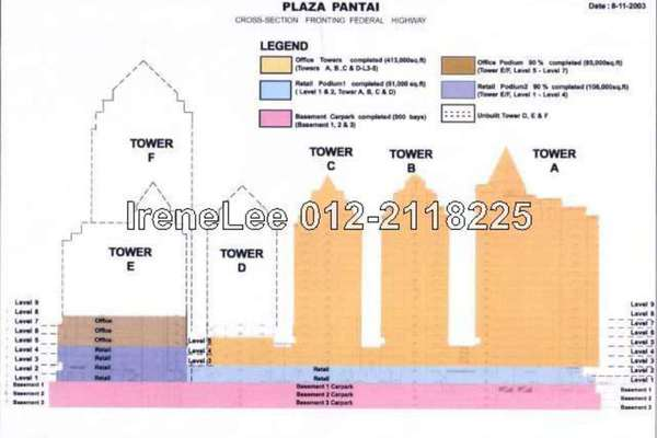 For Rent Office at Bangsar Trade Centre, Pantai Leasehold Semi Furnished 1R/1B 9.08k