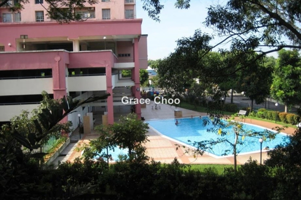 For Rent Apartment at Sutramas, Bandar Puchong Jaya Leasehold Semi Furnished 3R/2B 1.2k