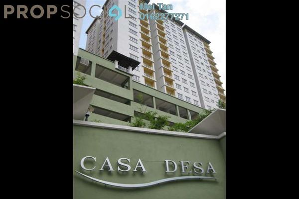 For Rent Condominium at Casa Desa, Taman Desa Freehold Fully Furnished 3R/2B 2.2k