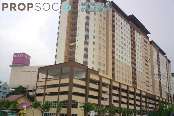 For Rent Apartment at Plaza Metro Prima, Kepong Leasehold Semi Furnished 3R/2B 1.45k