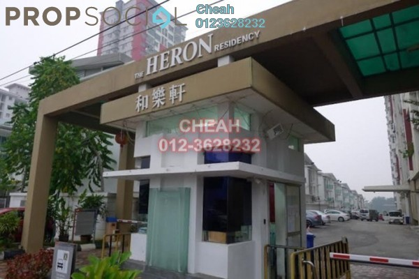 For Rent Condominium at The Heron Residency, Puchong Leasehold Fully Furnished 2R/1B 1.3k