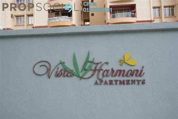 For Sale Apartment at Vista Harmoni, Cheras South Freehold Unfurnished 3R/2B 409k