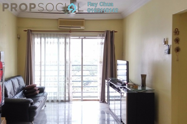 For Rent Apartment at Akasia Apartment, Pusat Bandar Puchong Freehold Fully Furnished 3R/2B 1.2k