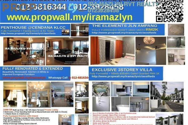 For Rent Condominium at Cendana, KLCC Freehold Fully Furnished 4R/3B 16k