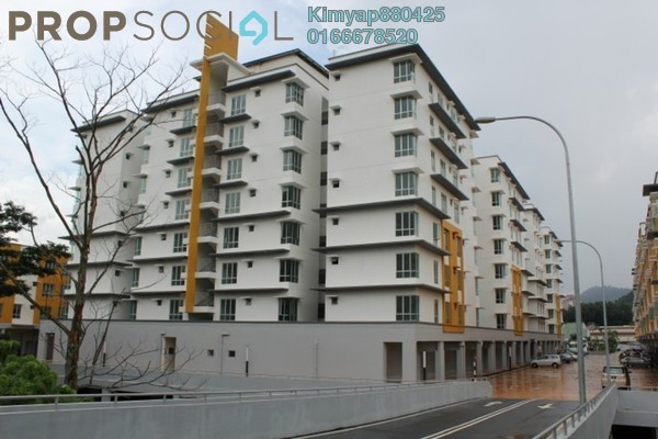 For Rent Apartment at 162 Residency, Selayang Leasehold Semi Furnished 3R/2B 1.2k