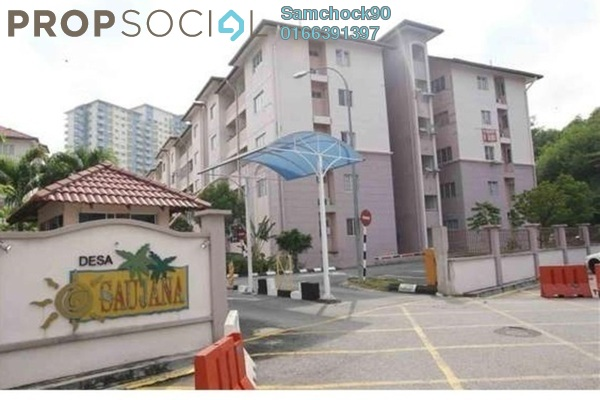 For Sale Apartment at Desa Saujana, Seri Kembangan Freehold Fully Furnished 3R/2B 380k
