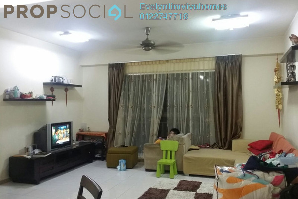 For Sale Condominium at Prima Tiara 1, Segambut Freehold Semi Furnished 3R/2B 413k