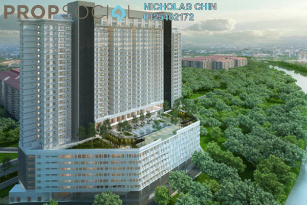 For Sale Serviced Residence at The Edge Residen, Subang Jaya Leasehold Unfurnished 2R/2B 381k