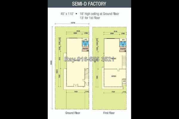 For Sale Factory at Rampai Business Park, Setapak Leasehold Unfurnished 0R/2B 3.6m