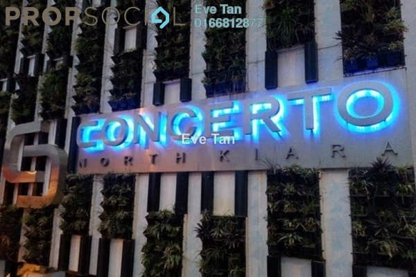 For Sale Condominium at Concerto Kiara, Dutamas Freehold Semi Furnished 3R/4B 1.05m