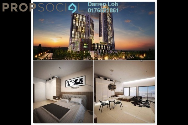 For Rent Serviced Residence at CyberSquare, Cyberjaya Freehold Semi Furnished 2R/2B 1.4k