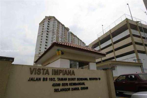 For Sale Apartment at Vista Impiana Apartment, Seri Kembangan Leasehold Semi Furnished 1R/1B 175k