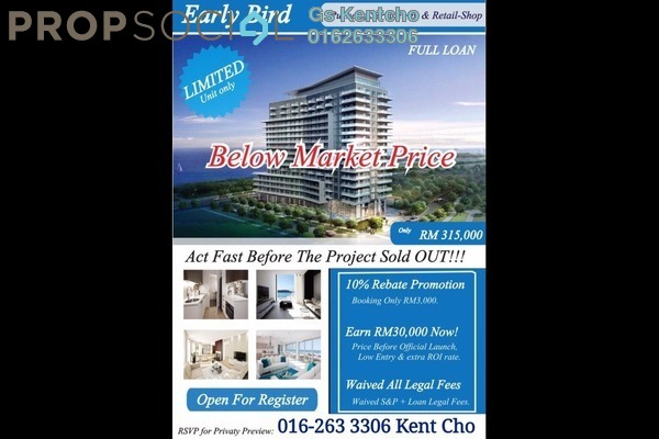 For Sale Condominium at Saville @ D'Lake, Puchong Leasehold Unfurnished 2R/2B 340k