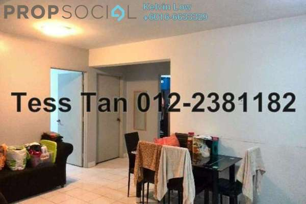 For Sale Apartment at Aman Dua, Kepong Freehold Semi Furnished 3R/1B 320k