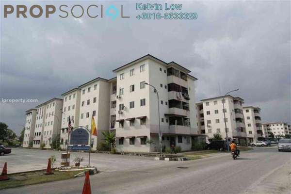For Sale Apartment at Puchong Utama Court 1, Bandar Puchong Utama Freehold  3R/2B 123k