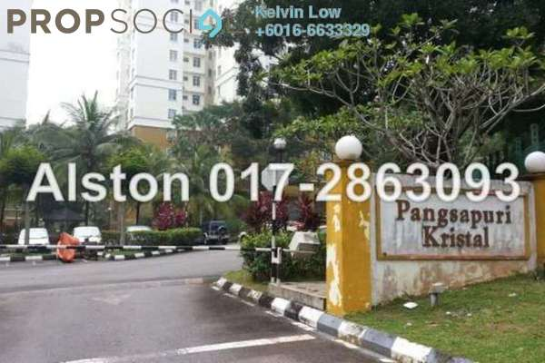For Sale Apartment at Crystal Tower, Ampang Leasehold Semi Furnished 3R/2B 350k