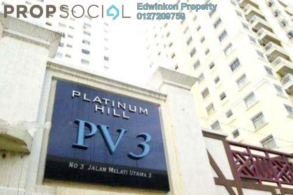 For Rent Condominium at Platinum Hill PV3, Setapak Freehold Semi Furnished 4R/2B 1.8k