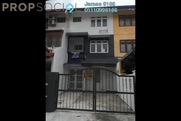 For Sale Terrace at Taman Dagang, Ampang Leasehold Semi Furnished 3R/3B 600k