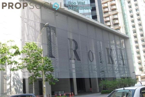 For Sale Condominium at The Troika, KLCC Freehold Semi Furnished 4R/0B 12.2m
