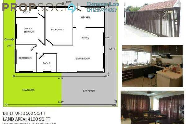 For Rent Bungalow at Section 1, Petaling Jaya Leasehold Fully Furnished 3R/2B 6k